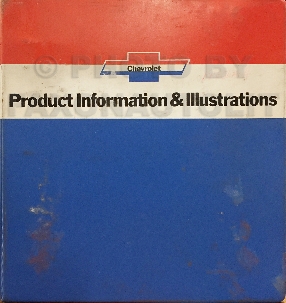 1975 Chevrolet Car Data Book Original