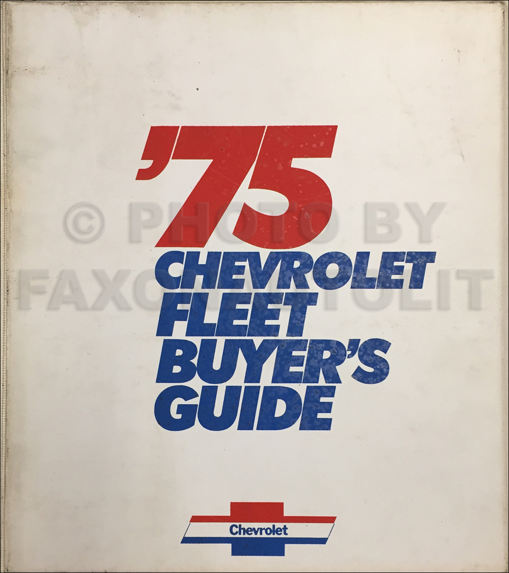 1975 Chevrolet Fleet Buyer's Guide Dealer Album Original