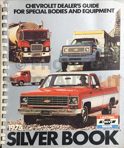 1975 Chevrolet Truck Silver Book Special Equipment Dealer Album