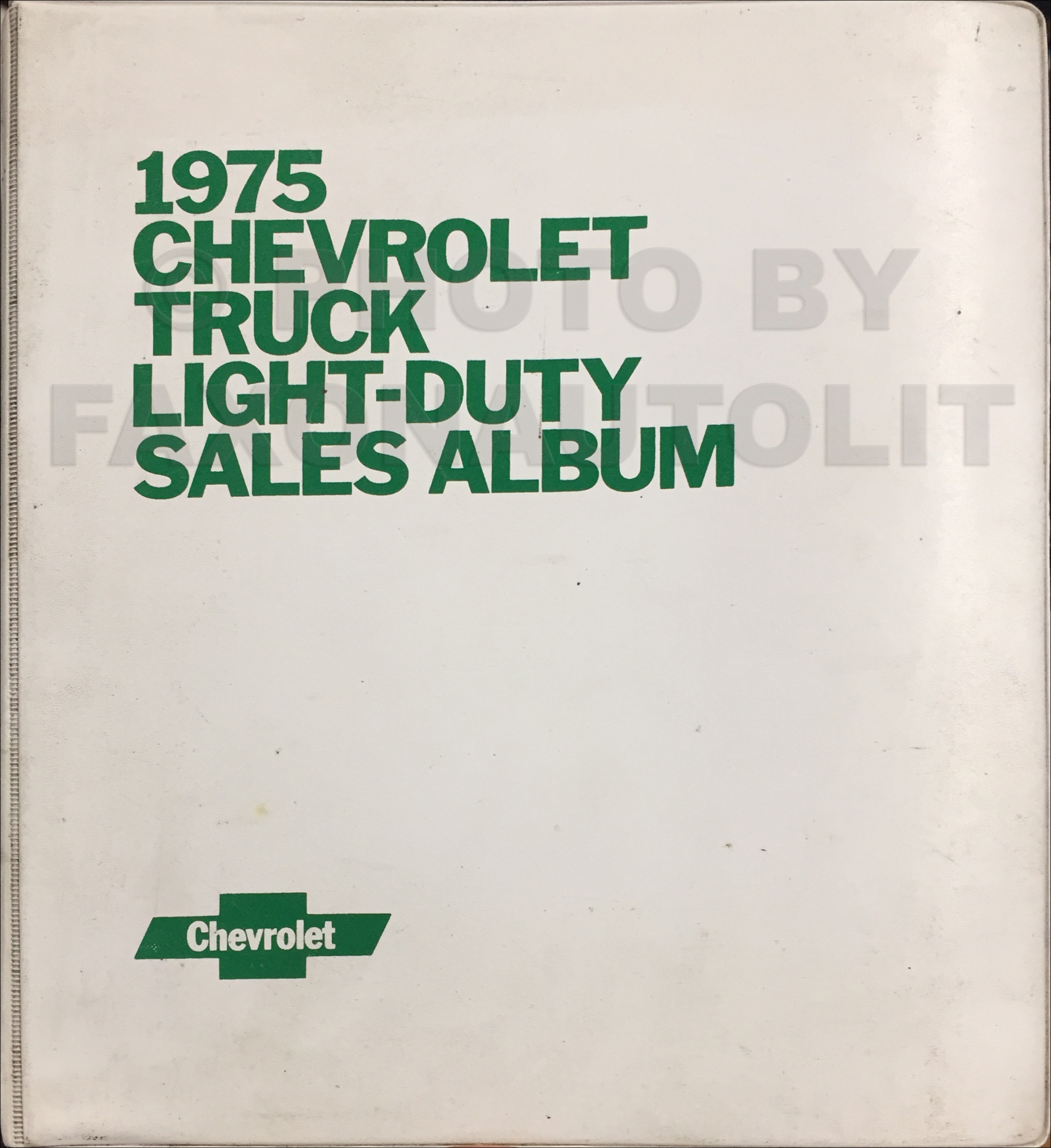 1975 Chevrolet Light Truck Data Book and Color and Upholstery Dealer Album Original