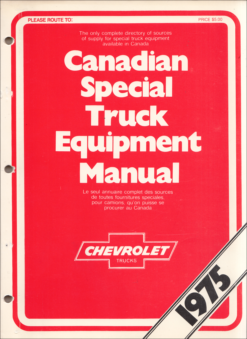1975 Chevrolet Truck Special Equipment Dealer Album Canadian