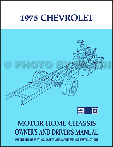 1975 chevrolet motorhome chassis owner\u0027s manual reprint Chevy Silverado Wiring Diagram