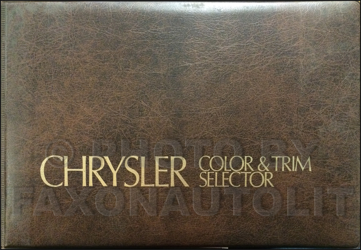 1975 Chrysler Color & Upholstery Album Original