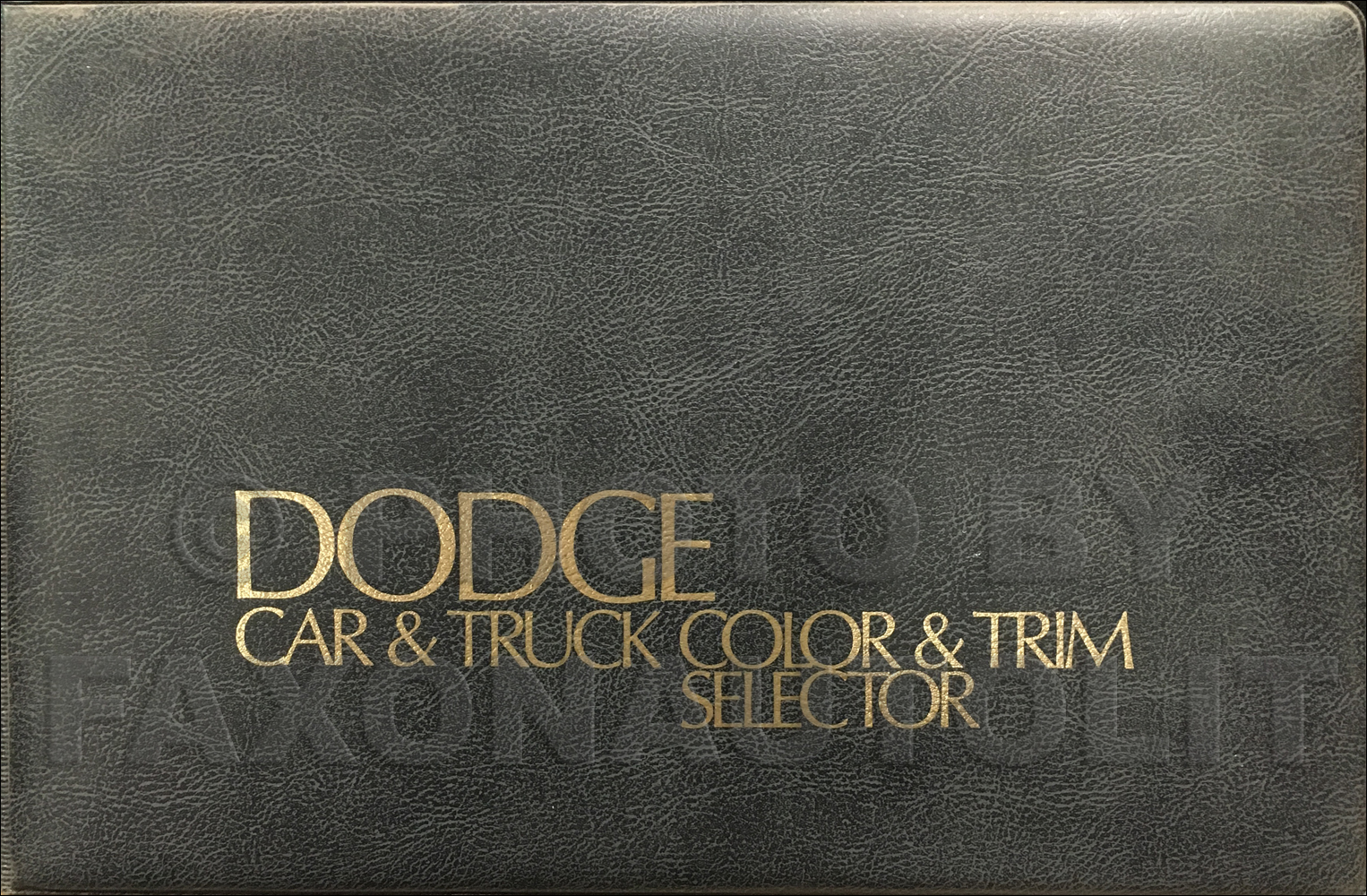 1975 Dodge Color & Upholstery Album Original