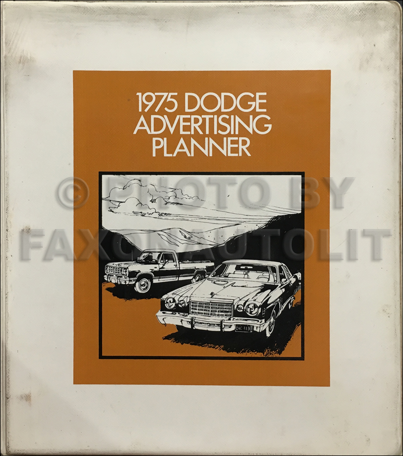 1975 Dodge Car & Truck Dealer Advertising Planner Original