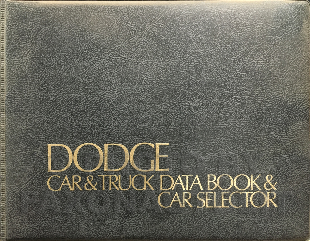1975 Dodge Data Book Original