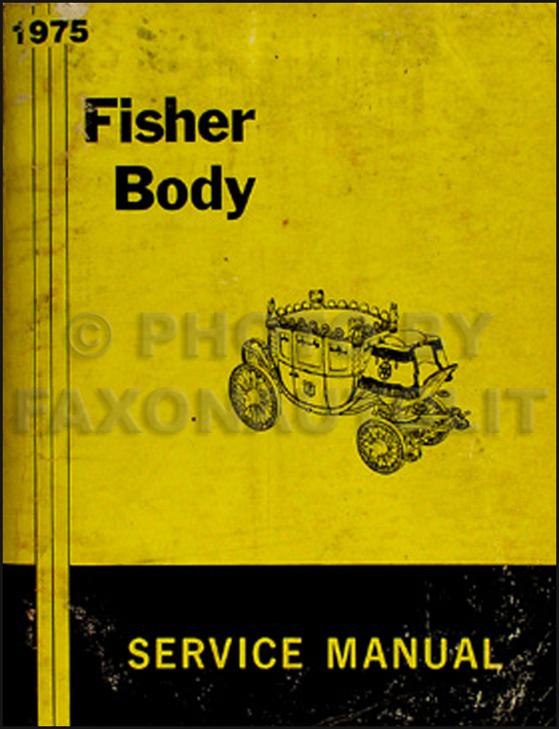 1975 Pontiac Body Repair Shop Manual Original