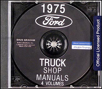 1975 Ford Truck Repair Shop Manual CD ROM for Pickup, Bronco, Van, big truck
