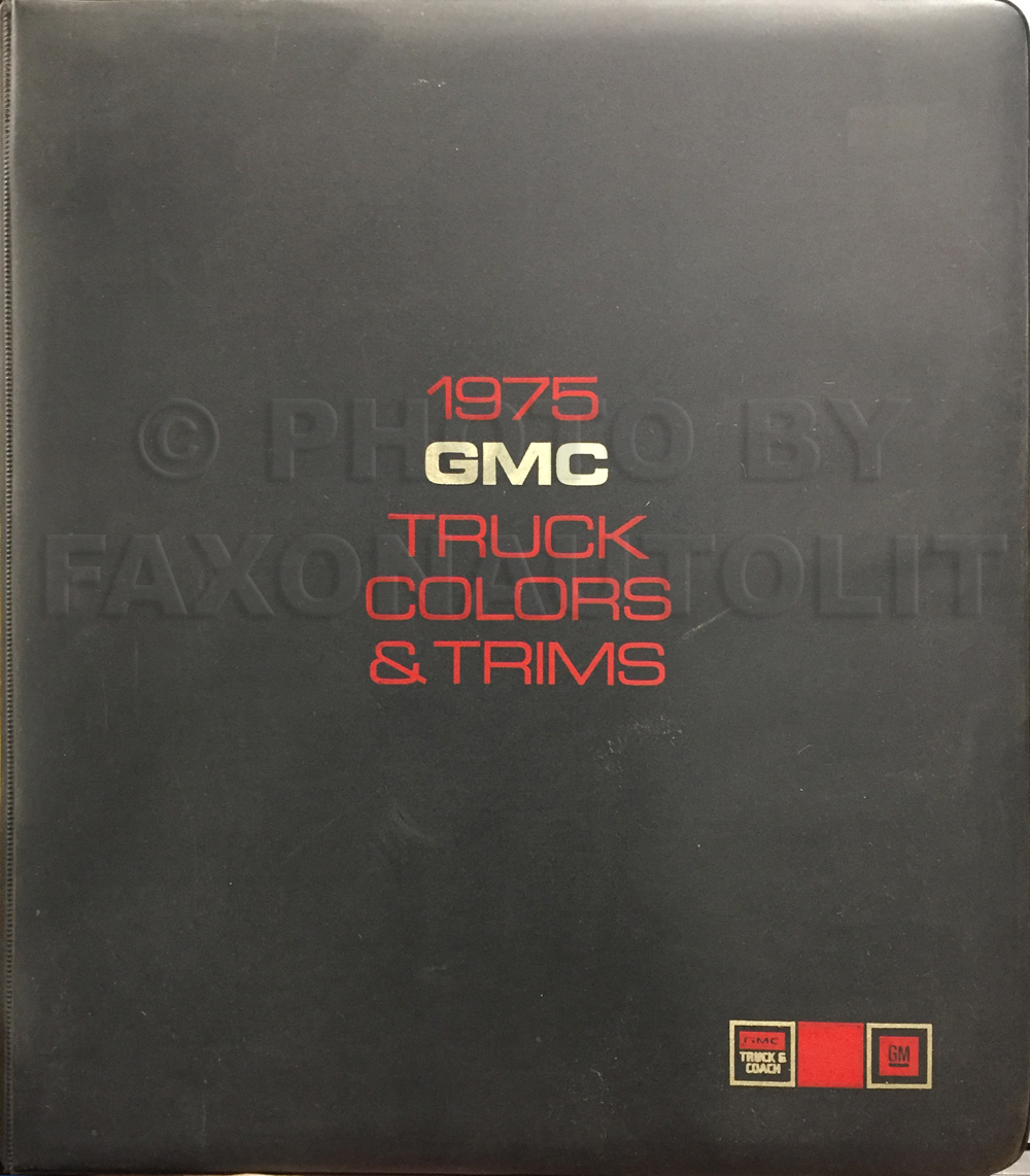 1975 GMC Color & Upholstery Dealer Album Original