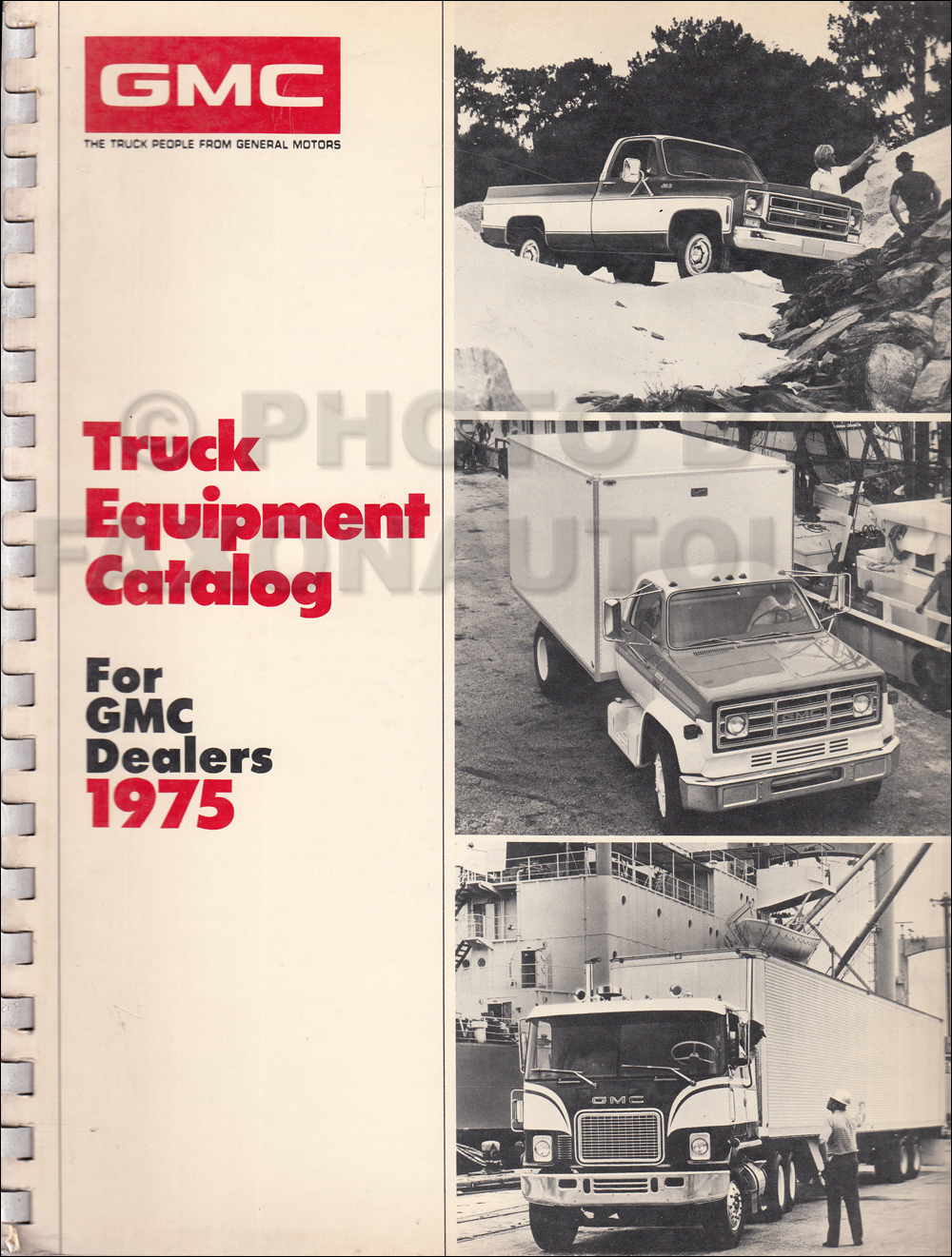1975 GMC Equipment Catalog Dealer Album Original