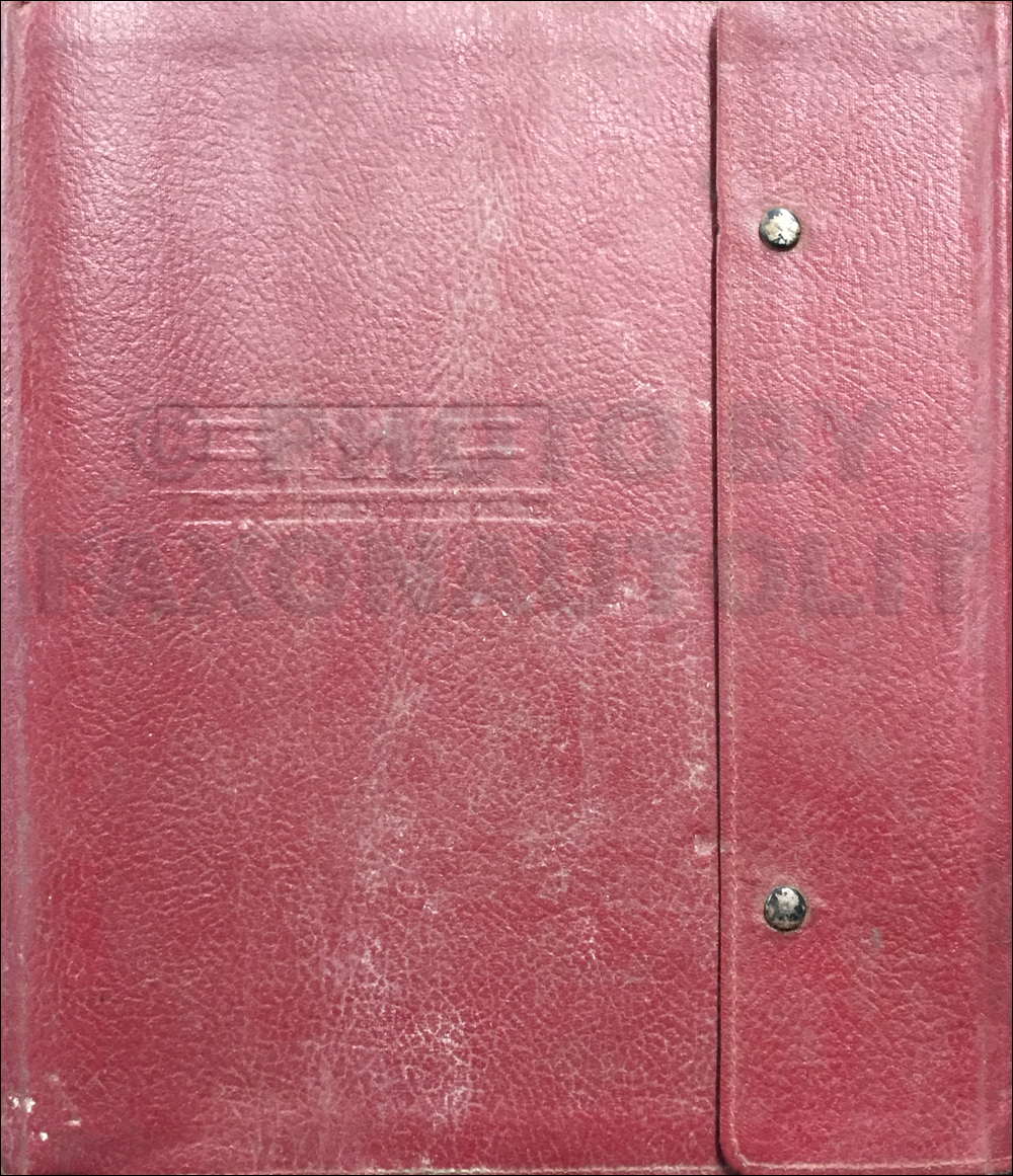 1975 GMC Data Book Original