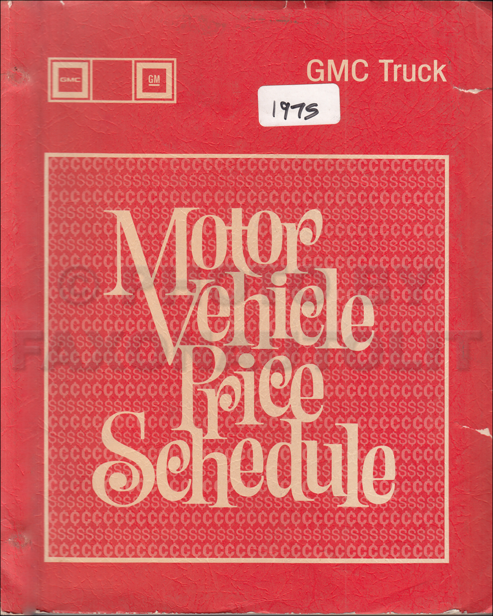 1975 GMC Truck Price Schedule Original