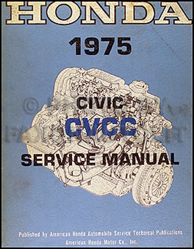 1975 Honda Civic CVCC Repair Manual Original