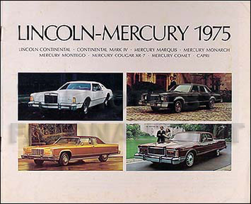 1975 Lincoln Mark V Continental Mercury Sales Brochure Original
