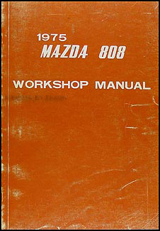 1975 Mazda 808 Repair Manual Original