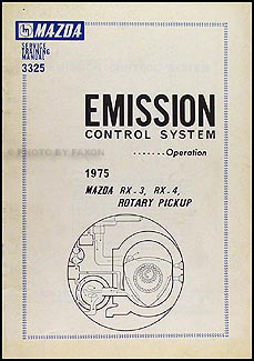1975 Mazda Rotary Engine Emission Control System Manual Original