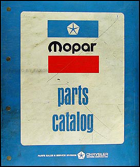 1975 Dodge, Plymouth, Chrysler Car Parts Book Original Binder