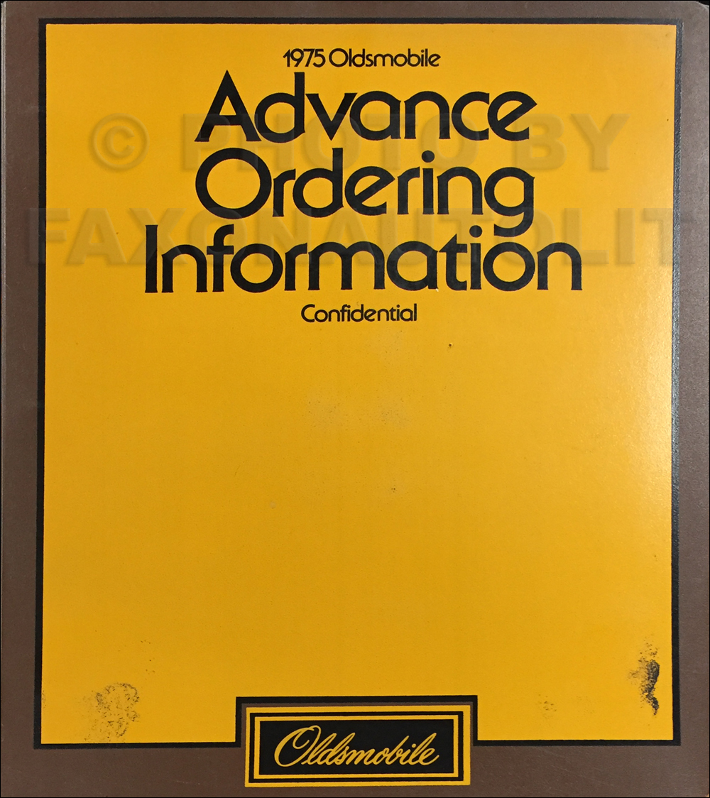 1975 Oldsmobile Advance Ordering Guide Original