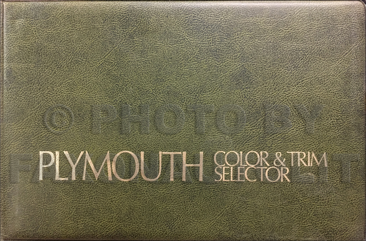 1975 Plymouth Color & Upholstery Album Original