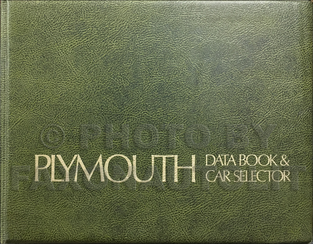 1975 Plymouth Data Book Original