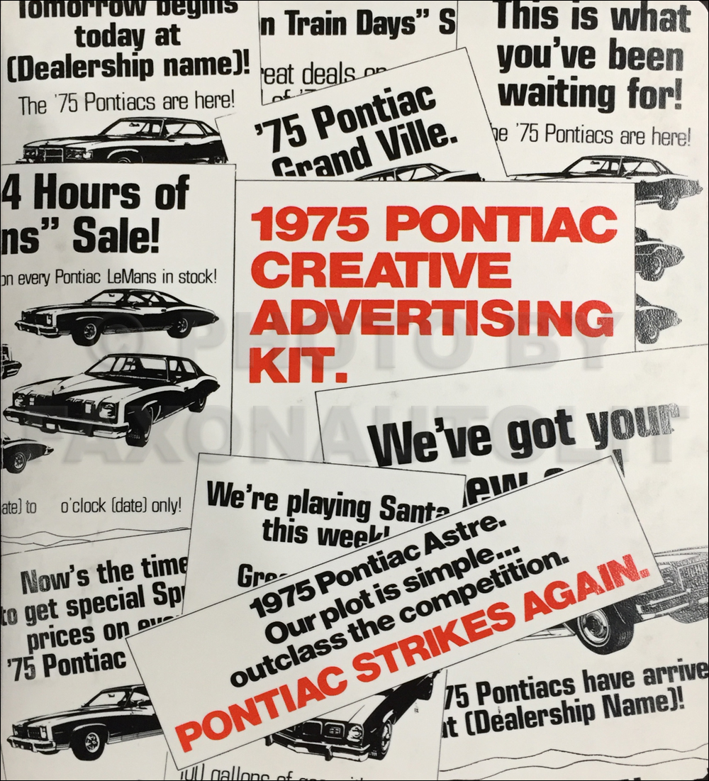 1975 Pontiac Dealer Advertising Planner Original