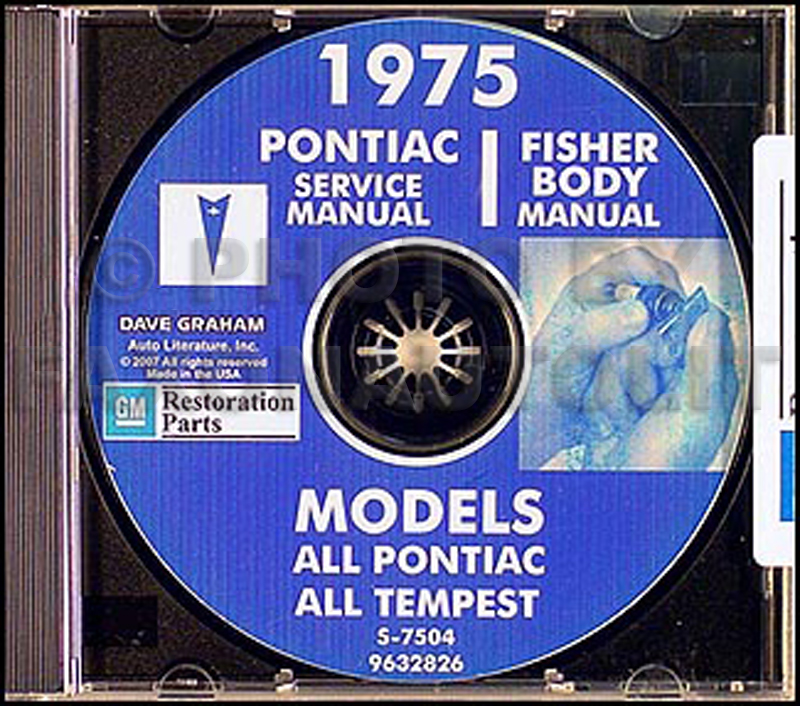 1975 Pontiac CD-ROM Shop Manual & Body Manual