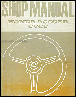 1976-1977 Honda Accord CVCC Repair Manual Original