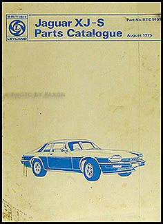 1976-1977 Jaguar XJ-S Parts Book Original