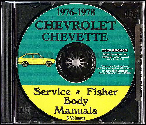 1976-1978 Chevrolet Chevette Shop Manuals on CD