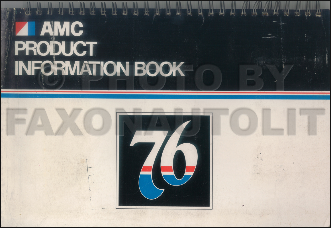 1976 AMC Dealer Album Original includes Data Book and Color and Upholstery