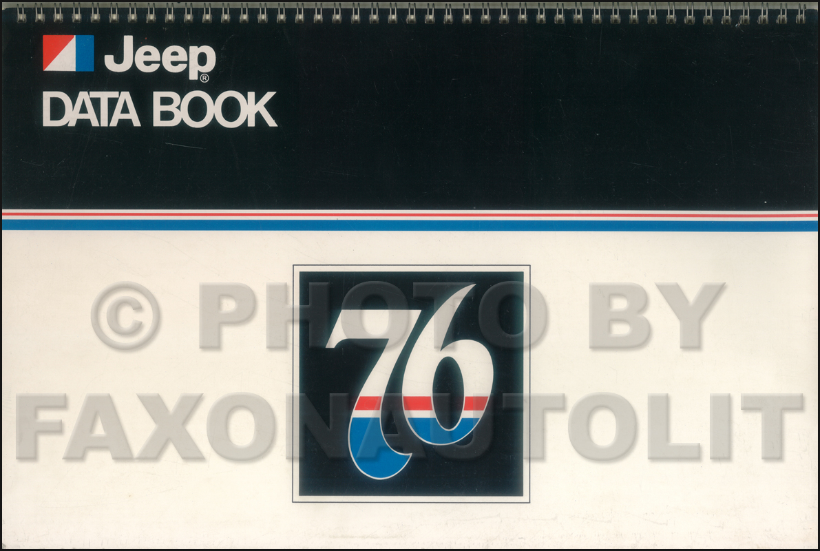 1976 Jeep Data Book Original Cherokee Wagoneer CJ Truck