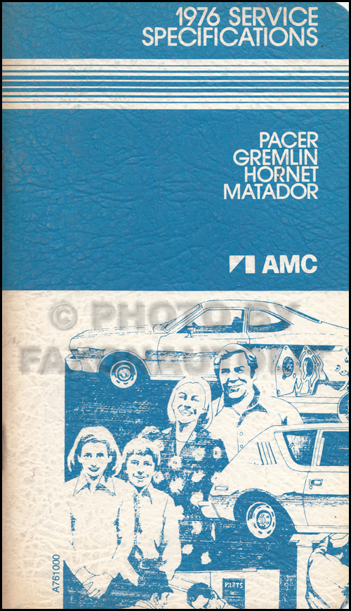 1976 AMC Service Specifications Manual
