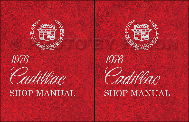 1976 Cadillac Repair Shop Manual Reprint 2 Volume Set