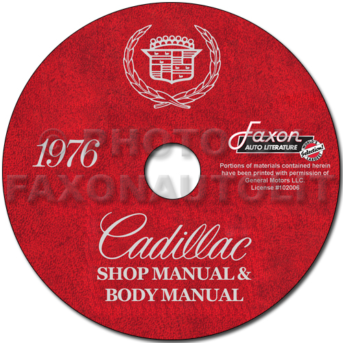 1976 Cadillac Shop Manual and Body Manual on CD-ROM
