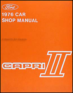 1976-1977 Mercury Capri II Repair Manual Original
