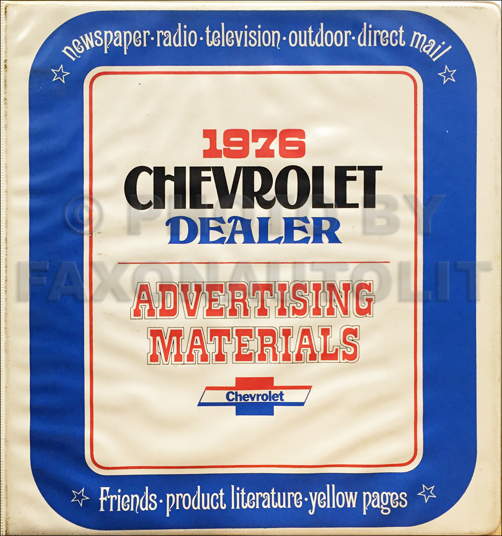 1976 Chevrolet Dealer Advertising Planner Original