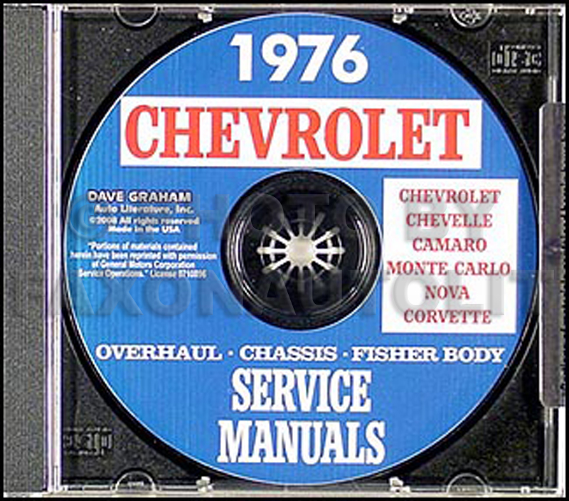 1976 Chevy CD-ROM Shop, Overhaul, & Body Manual