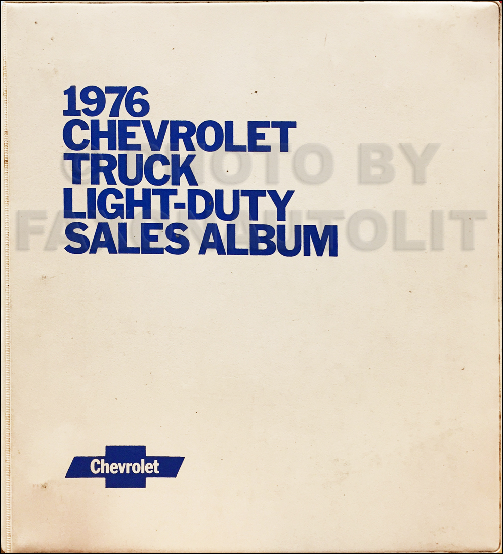 1976 Chevrolet Light Truck Data Book and Color and Upholstery Dealer Album Original