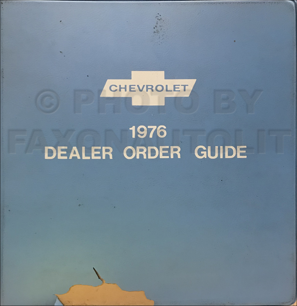 1976 Chevrolet Dealer Order Guide Original Album