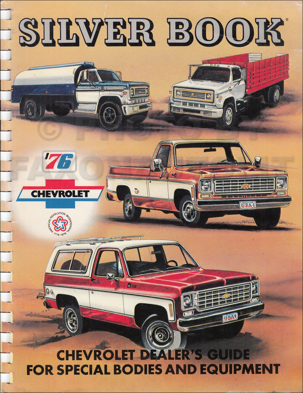 1976 Chevrolet Truck Silver Book Special Equipment Dealer Album