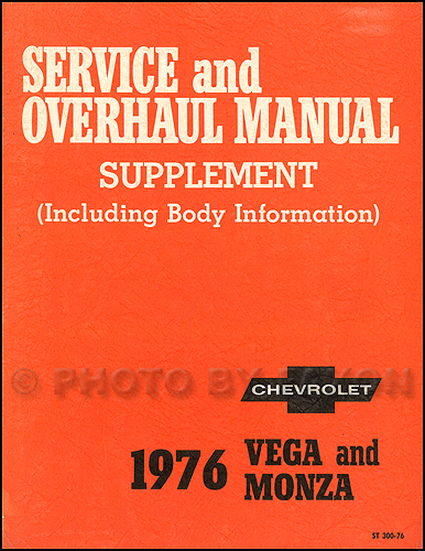 1975 1976 Chevrolet Cosworth Vega Repair Shop Manual
