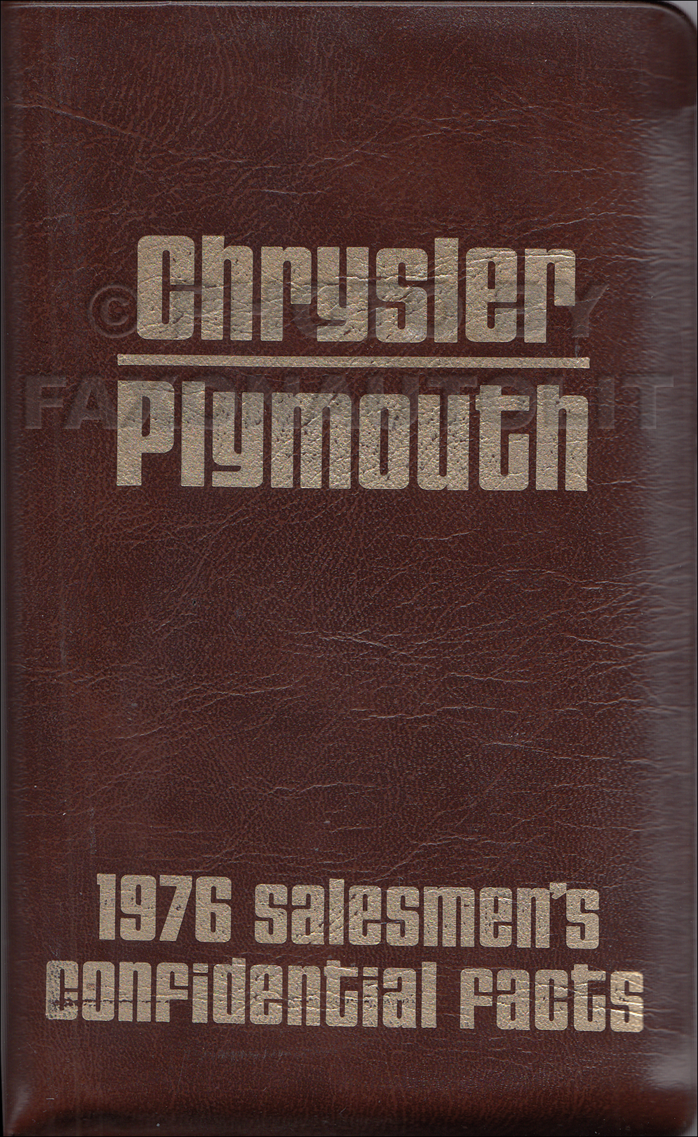 1976 Chrysler Plymouth Pocket Size Salesmen's Confidential Facts Guide Original
