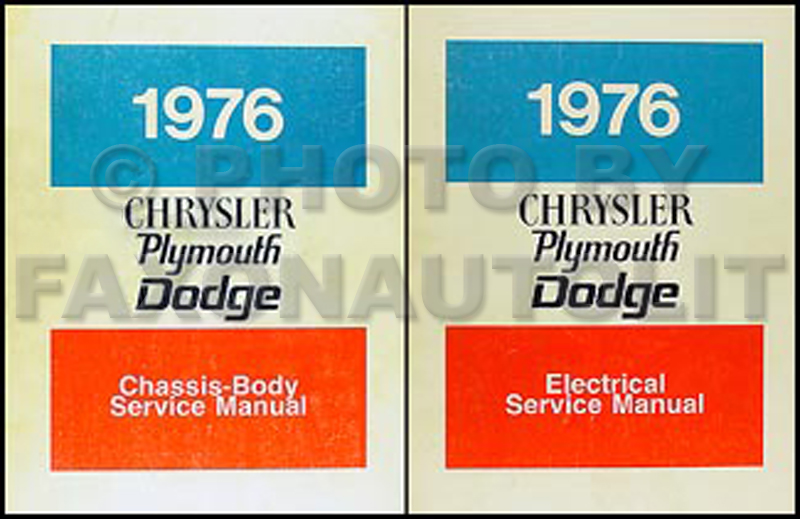 1976 Chrysler, Plymouth, Dodge Car Repair Manual Set
