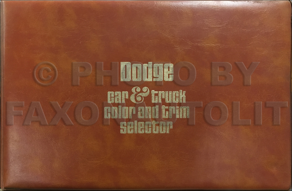 1976 Dodge Color & Upholstery Album Original