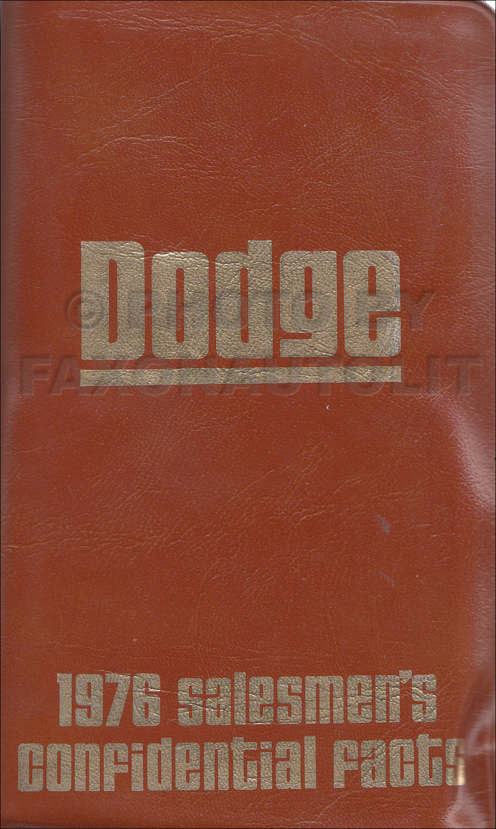 1976 Dodge Pocket Size Salesmen's Confidential Facts Guide Original