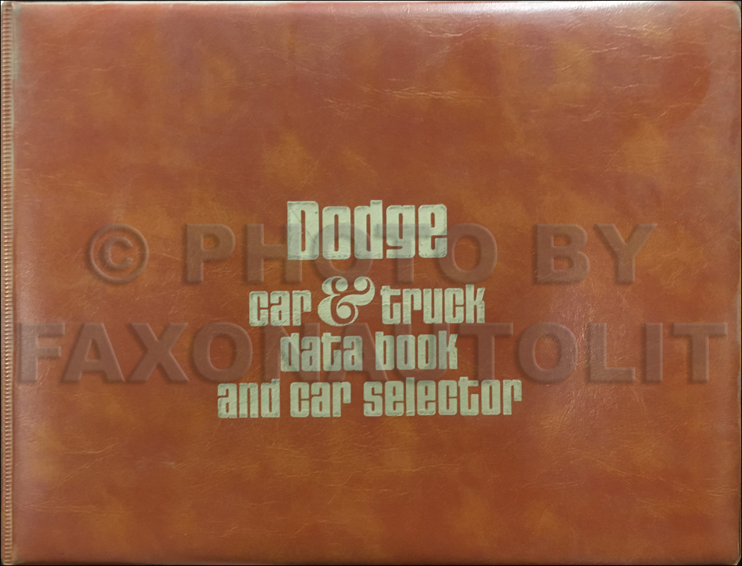 1976 Dodge Data Book Original