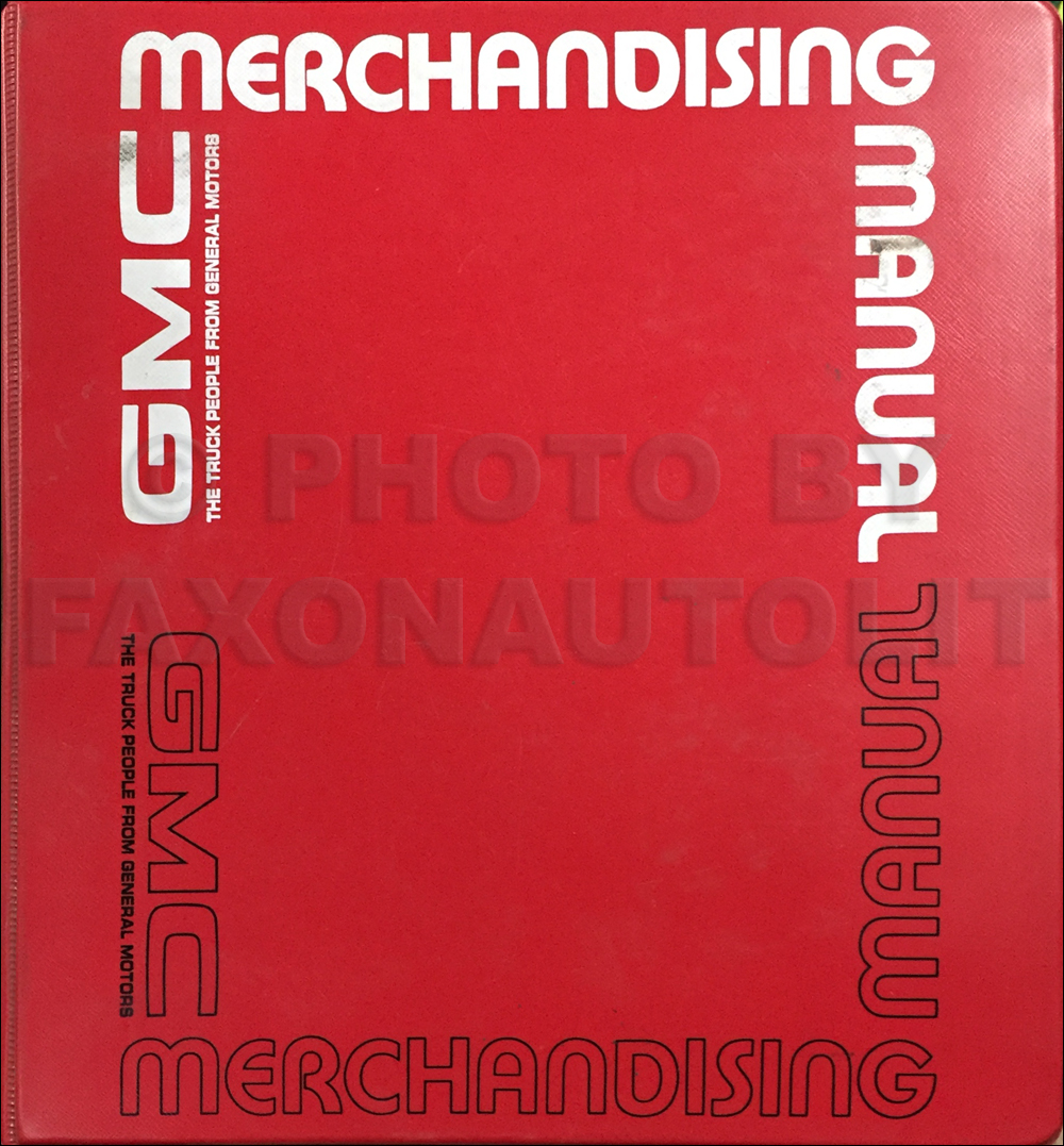 1976 GMC Merchandising Manual Dealer Album Original