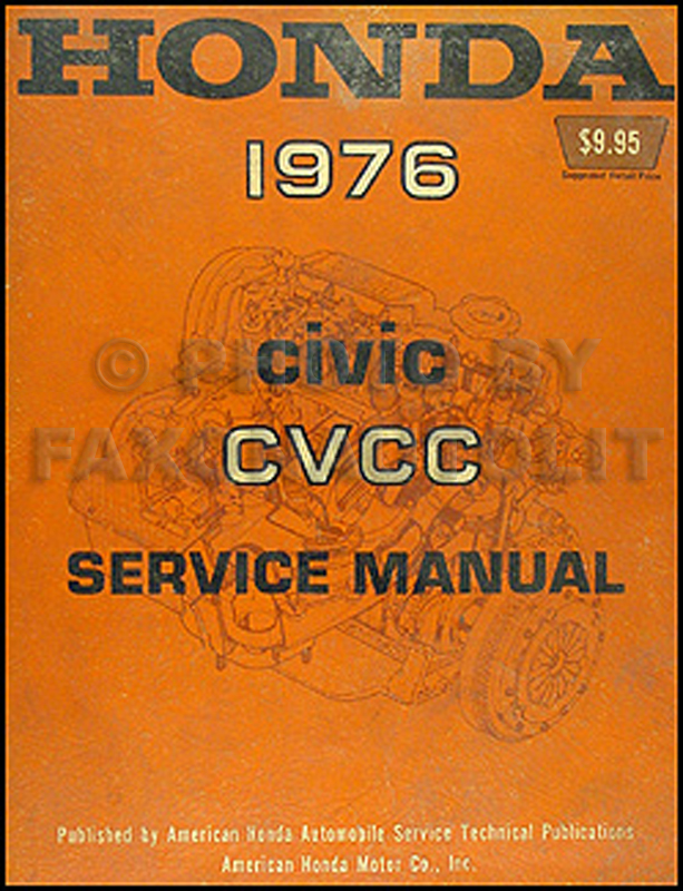1976 honda civic cvcc repair manual original