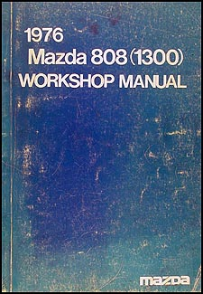 1976 Mazda 808 (1300) Mizer Repair Manual Original