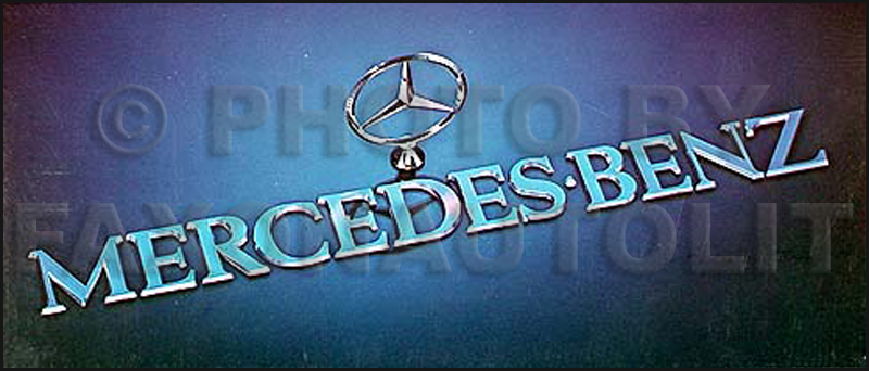 1976 Mercedes Sales Brochure Original 450 SL/SLC/SE/SEL 230 280